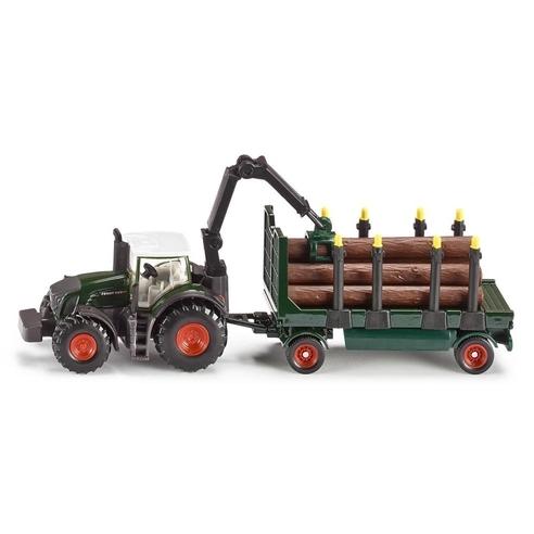 Siku Tractor met Boomstamaanhanger