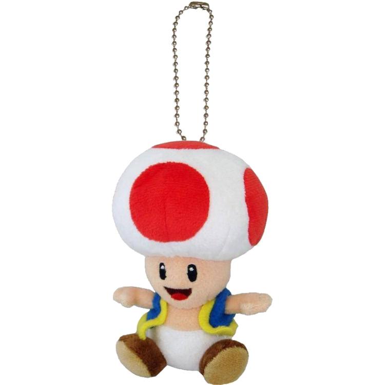 Super Mario Bros.: Toad 5 Inch Plush Keychain