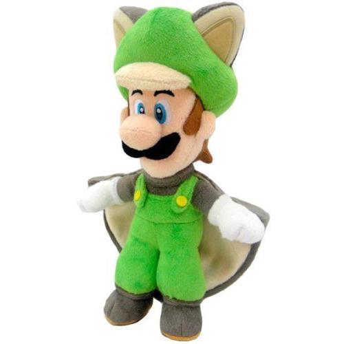 Super Mario Bros.: Flying Squirrel Luigi 15 Inch Plush