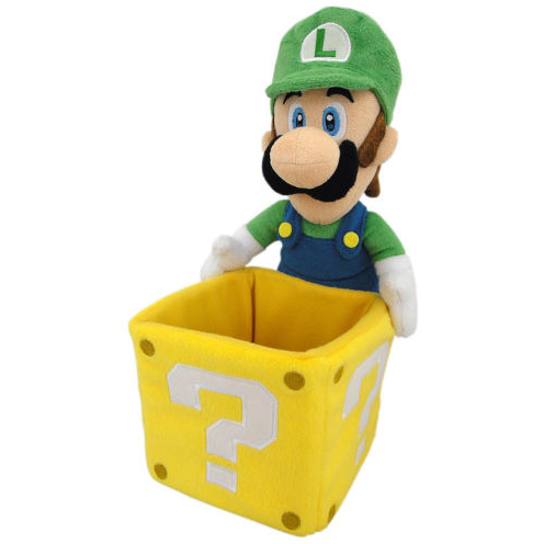 Super Mario Bros.: Luigi Coin Box 9 Inch Plush