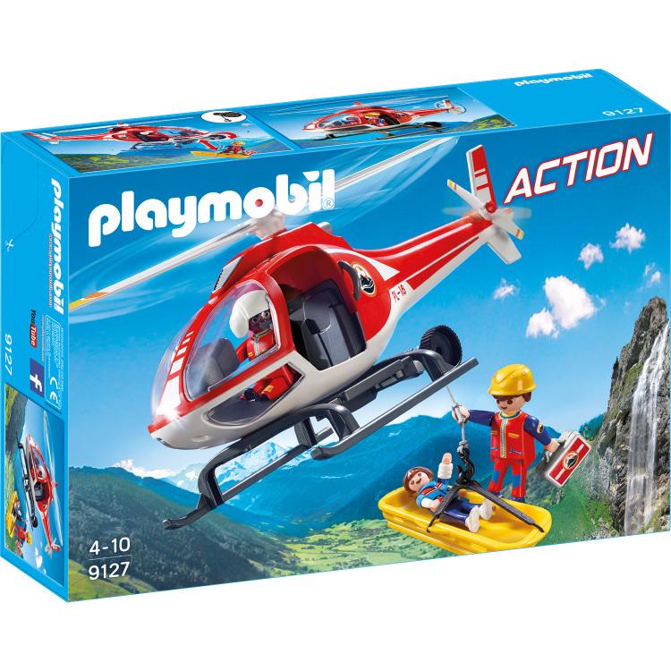 Reddingswerkers met helikopter Playmobil (9127)
