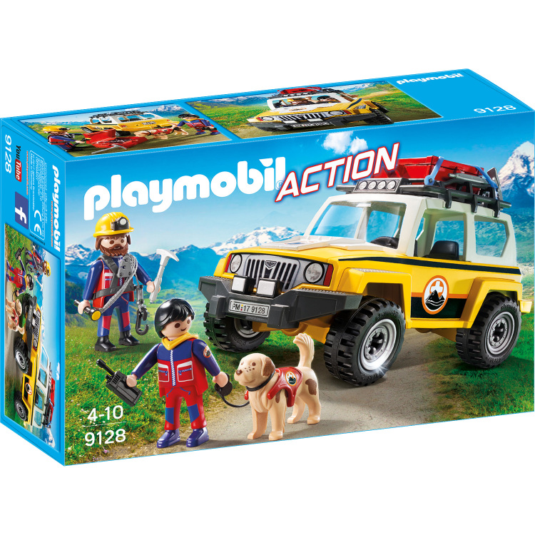 Reddingswerkers met terreinwagen Playmobil (9128)