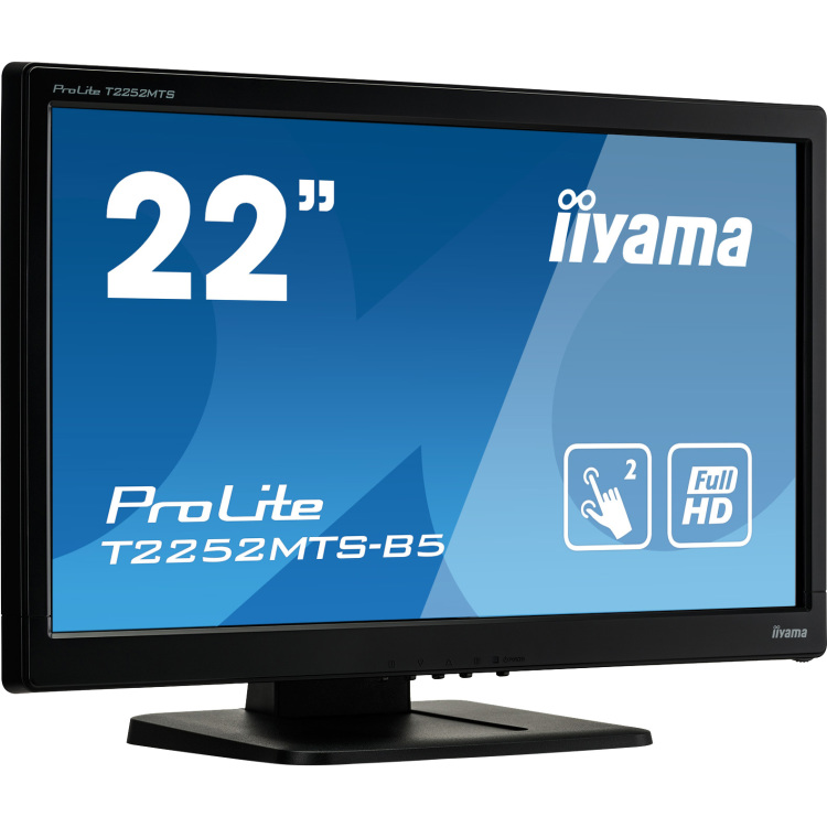 Iiyama ProLite T2252MTS-B5 21.5  1920 x 1080Pixels Multi-touch Tafelblad Zwart touch screen-monitor