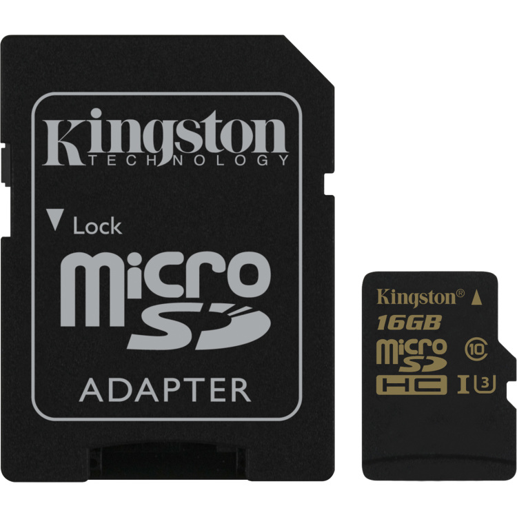 Kingston Technology Gold microSD UHS-I Speed Class 3 (U3) 16GB 16GB MicroSDHC UHS-I Klasse 3 flashge