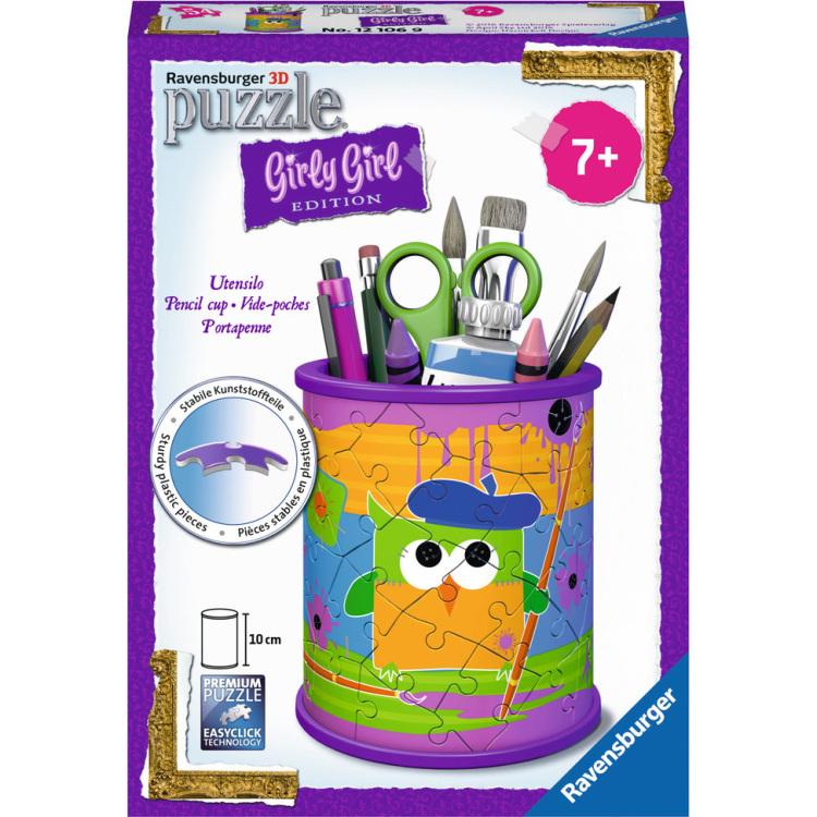 Ravensburger Girly Girl 3D puzzel Funky Owls pennenbak 54 stukjes