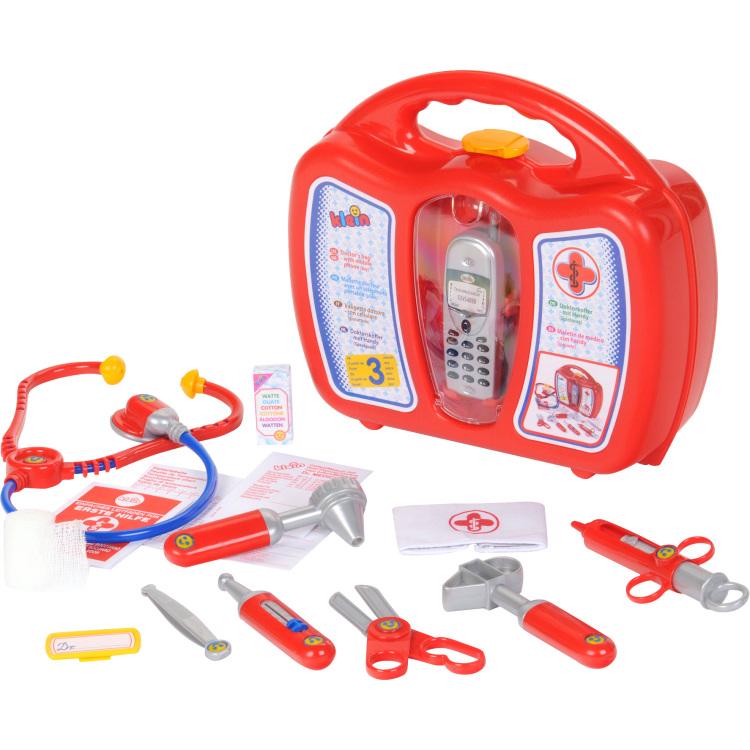 Theo klein dokterskoffer met mobiele telefoon