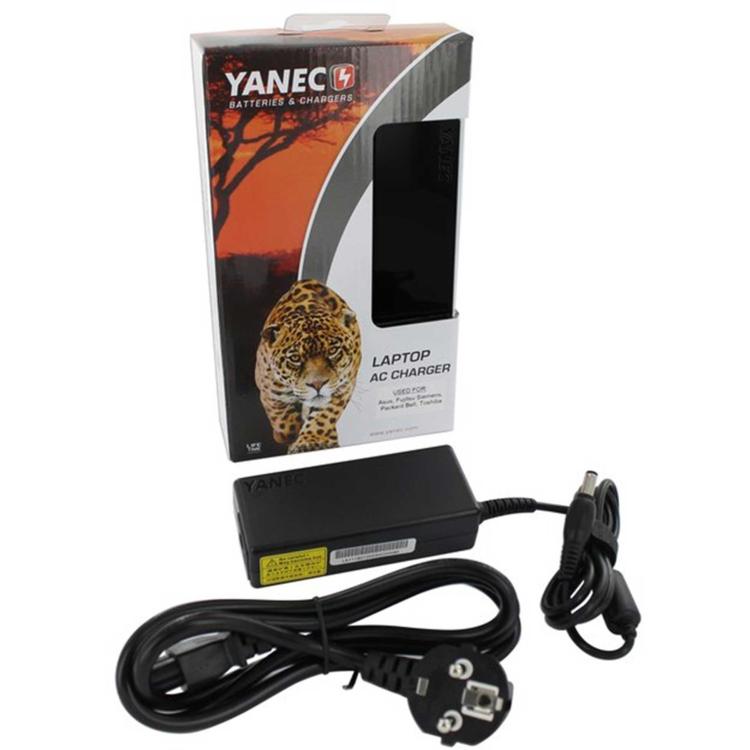 Yanec Laptop AC Adapter 65W voor Asus, Fujitsu Siemens, Packard Bell, Toshiba