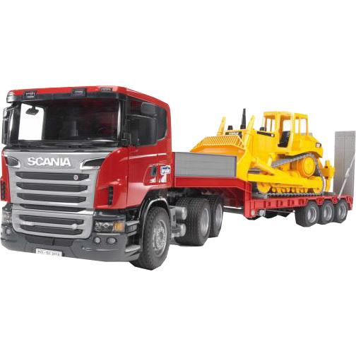 Bruder Scania dieplader en bulldozer