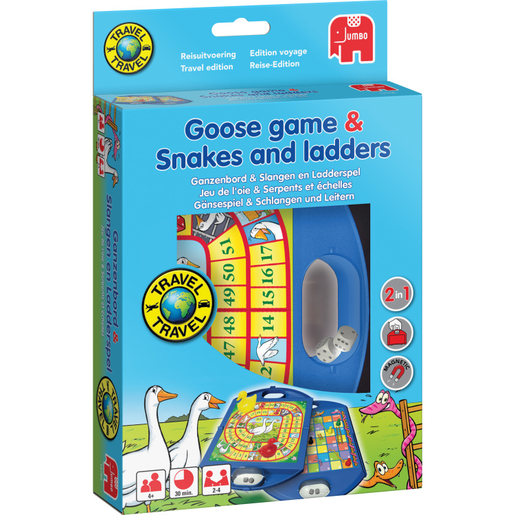 Ganzenbord en slangen en ladder travel
