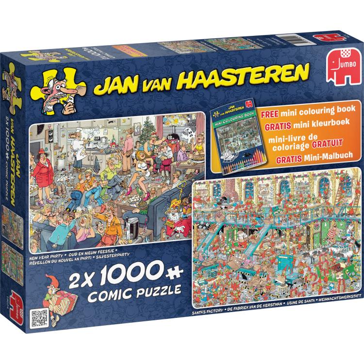 Jan Van Haasteren: Fijne Feestdagen Puzzels