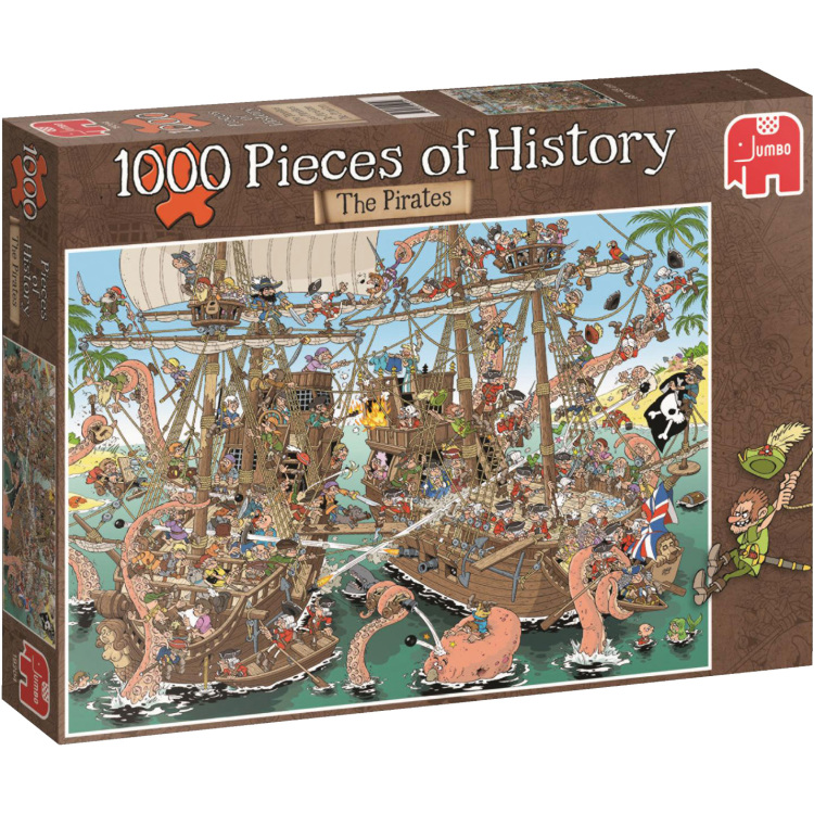 Puzzel Pieces Of History: Pirates 1000 Stukjes