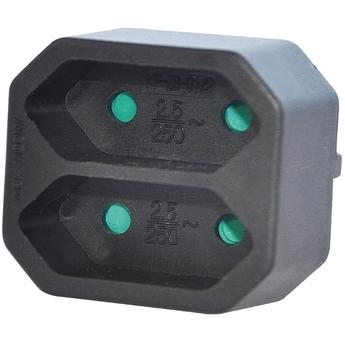 Valueline 2-wegs schuko-naar-euro-adapter zwart (VLES200C001BL)