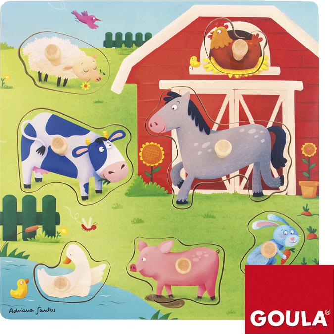 Goula Noppenpuzzel Op De Boerderij