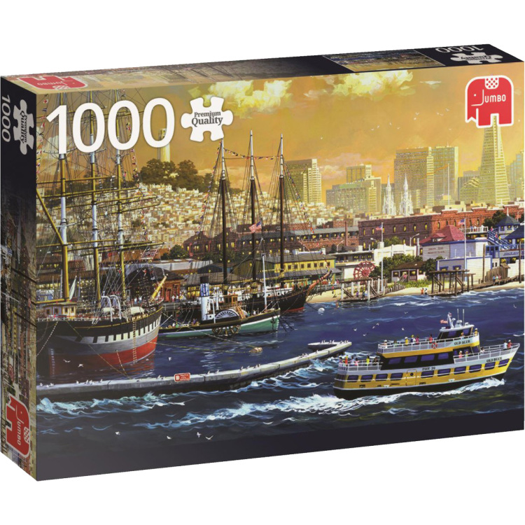 De baai van San Francisco, USA puzzel