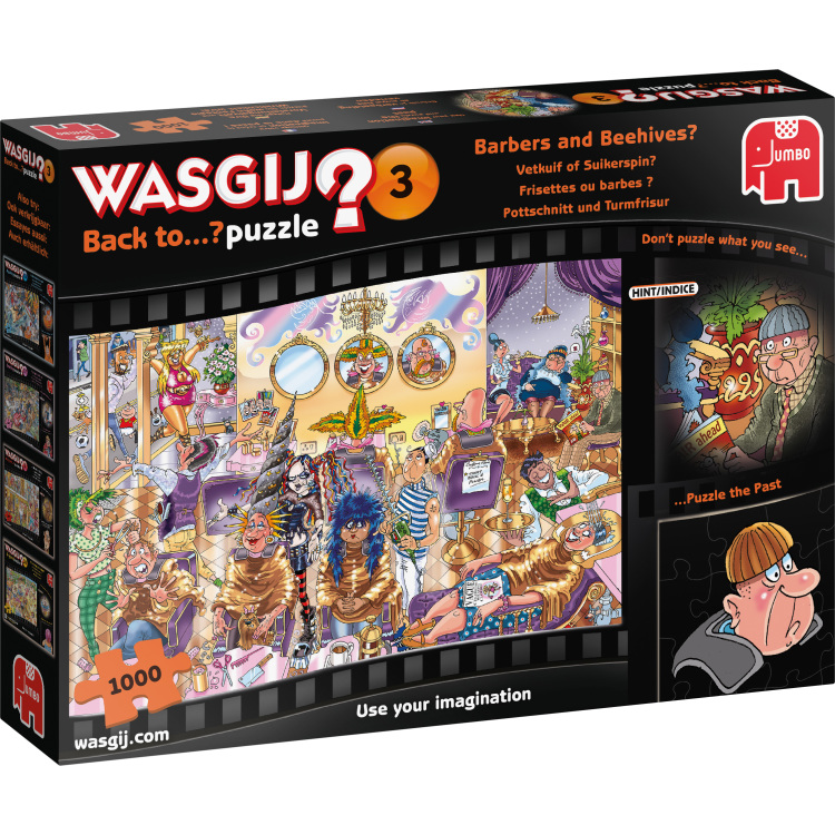 Wasgij? Back to 3: Vetkuif of suikerspin? Puzzel