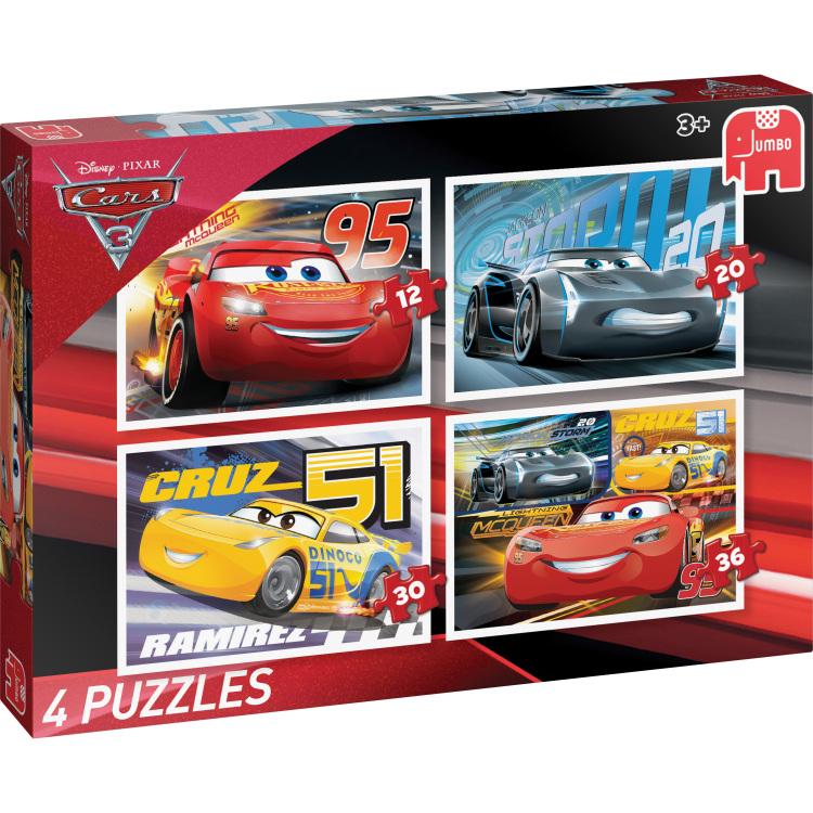 Disney Pixar Cars 3 4in1 Puzzels
