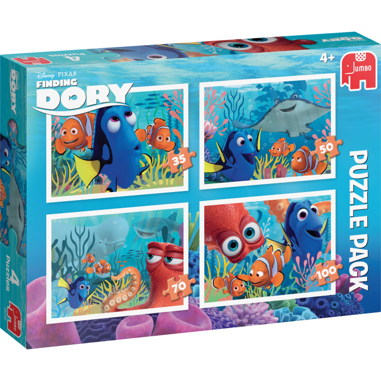 Disney Pixar Finding Dory 4in1 Puzzels