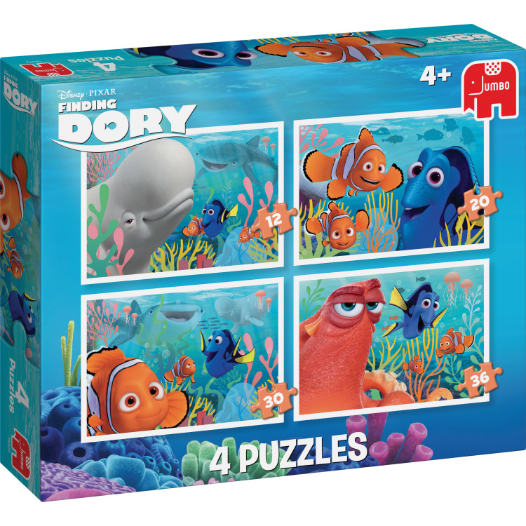 Puzzel Finding Dory 4 In 1