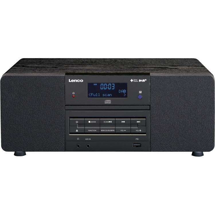 DAB+ Tafelradio Lenco CD, USB, AUX, DAB+ Zwart