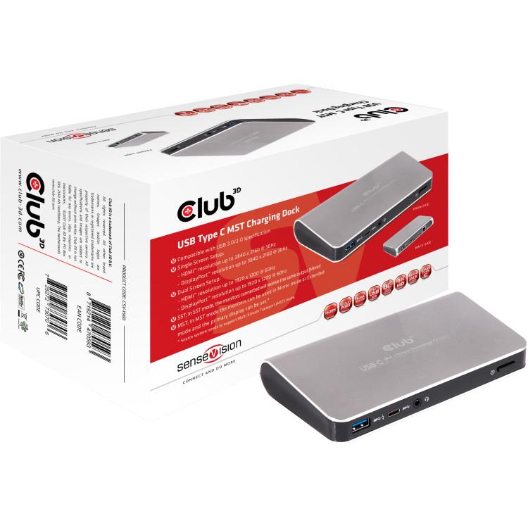CLUB3D USB Type C MST Charging Dock notebook dock & poortreplicator
