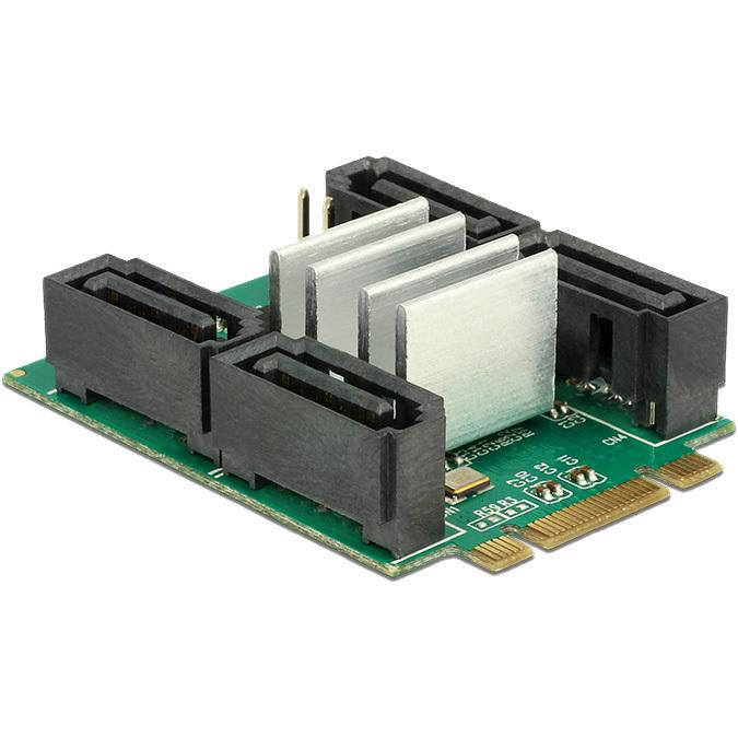Converter M.2 Key B+M > Hybrid 4 x SATA