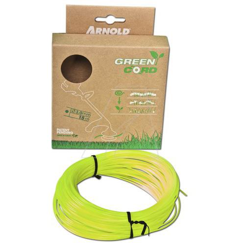 Arnold Green Cord (1082-U2-3015) grastrimmer draad 15 meter, 3mm, rond