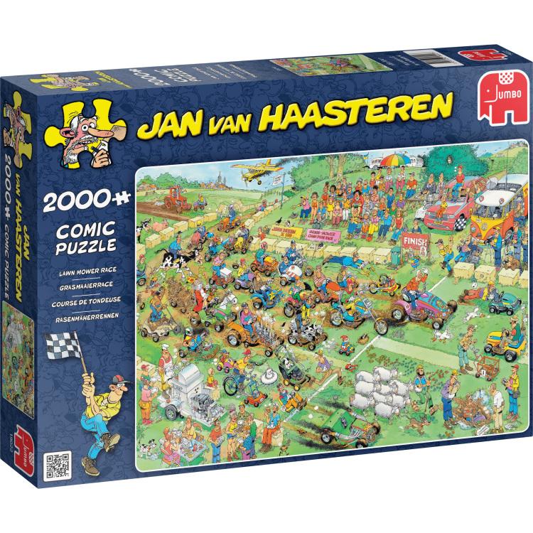 Jumbo Jan van Haasteren puzzel Grasmaaierrace 2000 stukjes