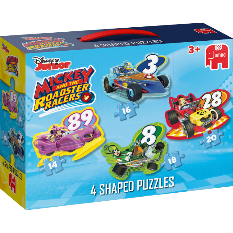Disney Mickey Roadster Racers 4in1 Vormpuzzels