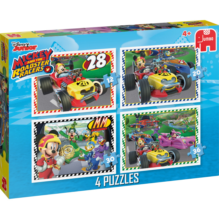 Disney Mickey Roadster Racers 4in1 Puzzels