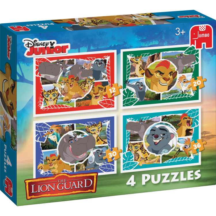 Disney The Lion Guard 4in1 Puzzels