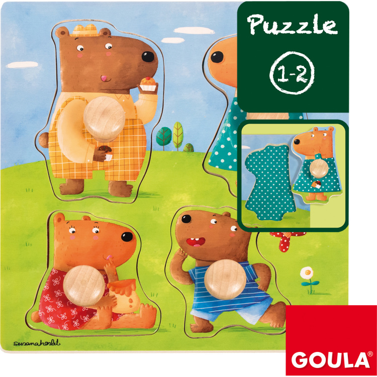 Goula Berenfamilie Noppenpuzzel