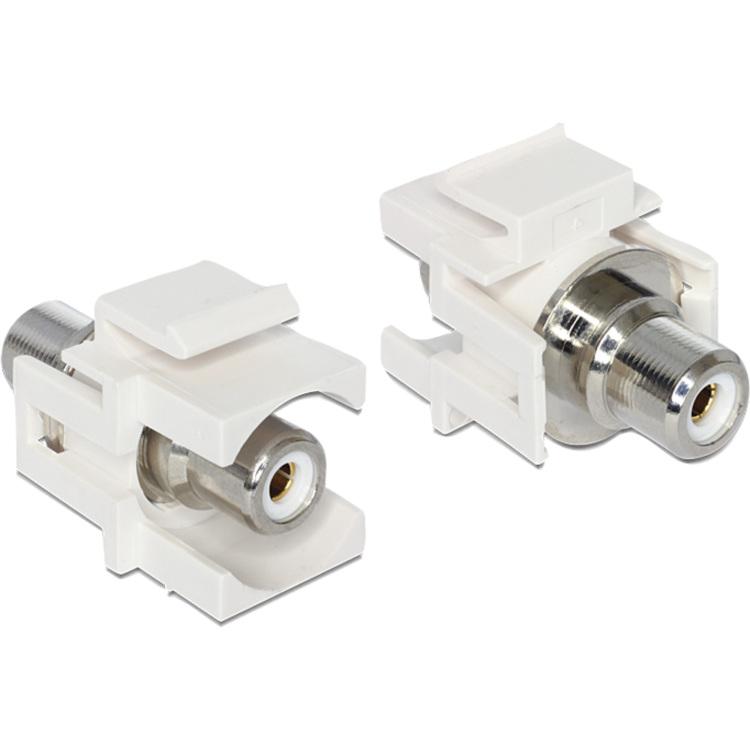 DeLock Keystone RCA (tulp) wit module