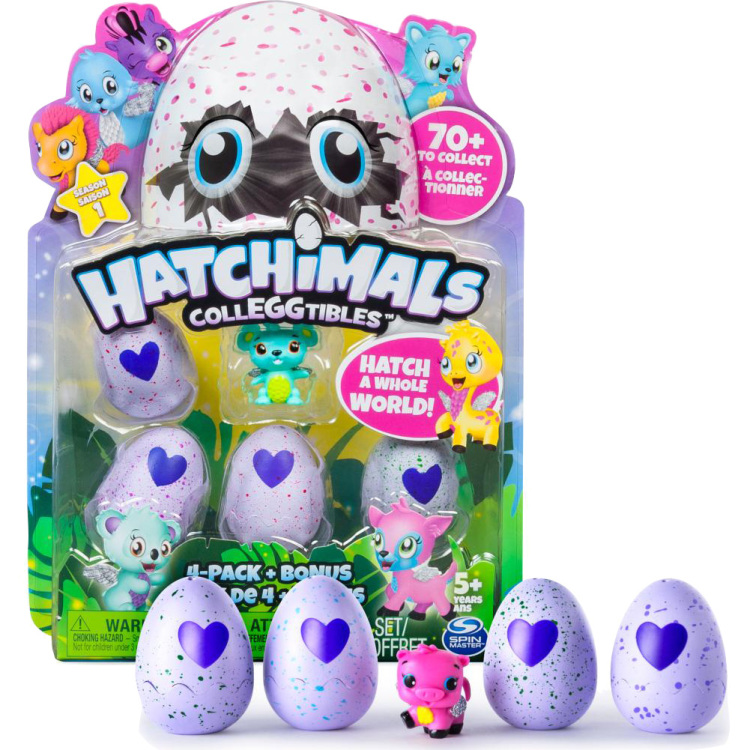 Hatchimals - CollEGGtibles, 4 Pack + bonus