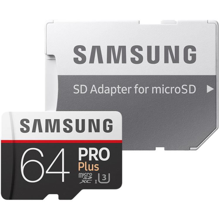 Samsung microSDXC PRO+ 64GB met adapter MB-MD64GA-EU