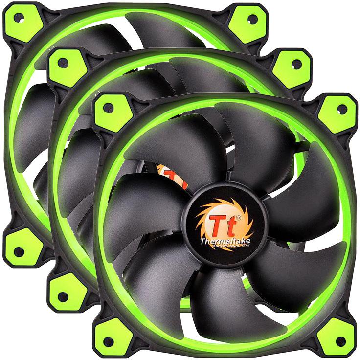 Riing 12 LED Green 3-Fan Pack