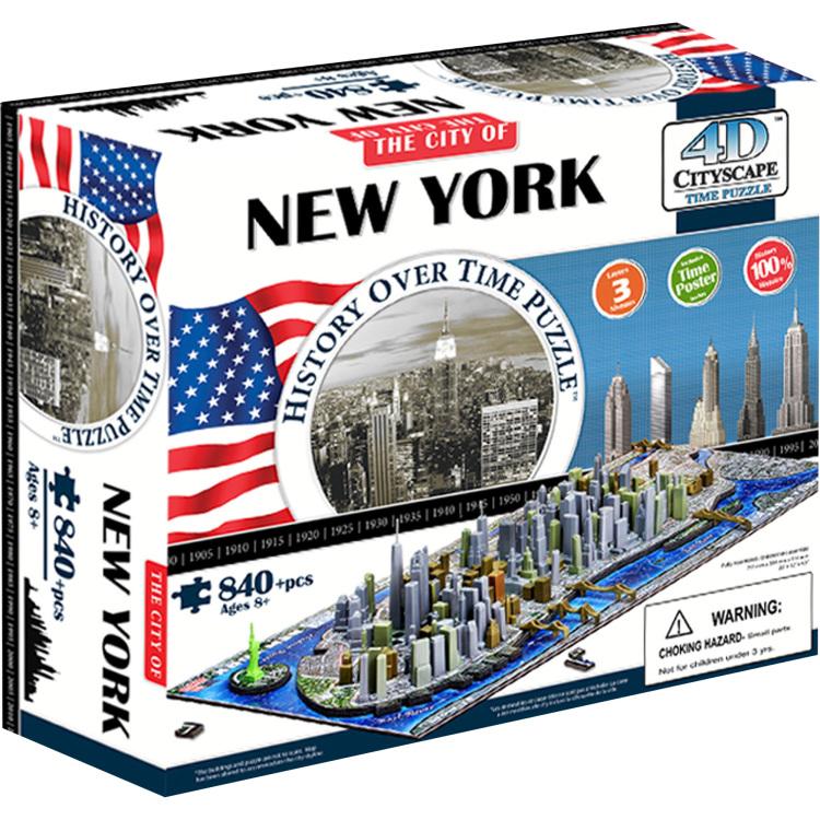4D puzzel Cityscape New York Time 840 stukjes