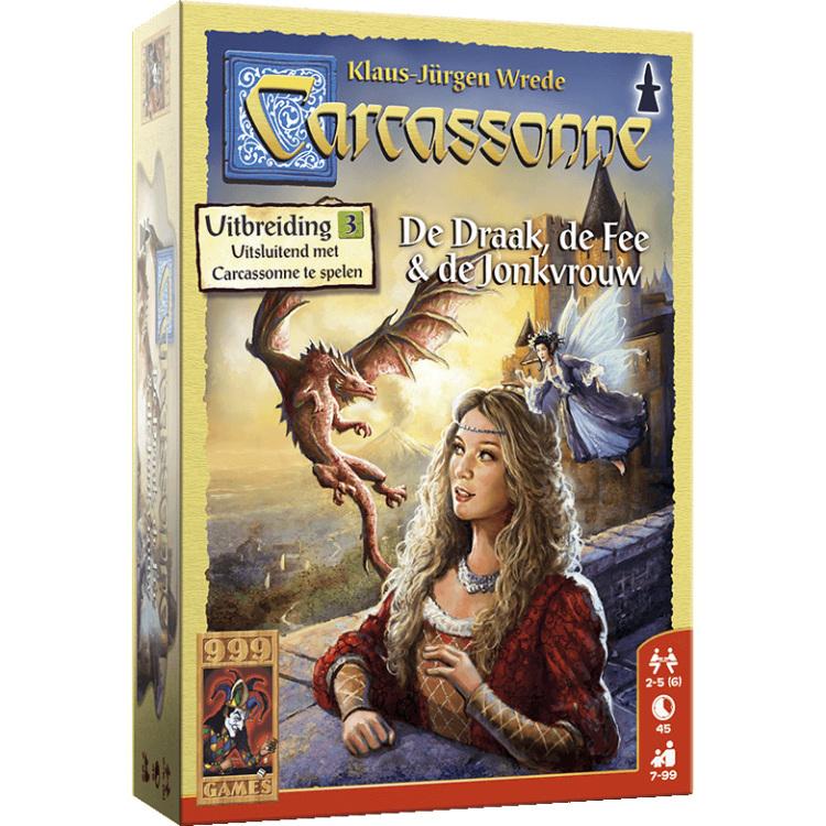 999 Games Carcassonne: De Draak, de Fee en de Jonkvrouw uitbreiding