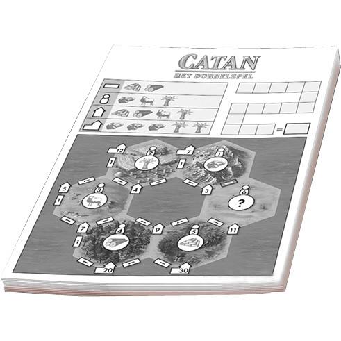 999 Games Catan: Het Dobbelspel: scoreblok 3 stuks