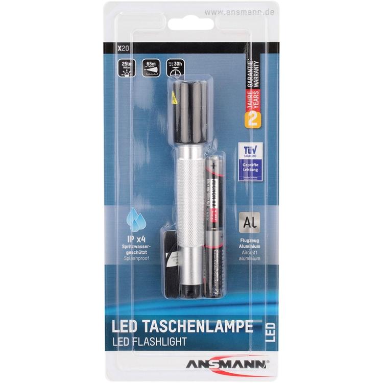 Ansmann LED Taschenl. X20 bk/sr zaklamp