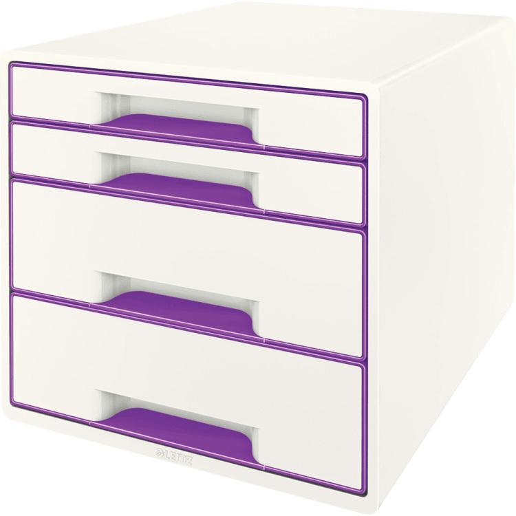 Ladenbox Leitz 5213 WOW 4 laden wit-paars
