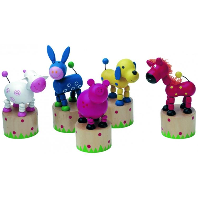 Image of Drukpoppetje Simply for Kids: dieren 12x5 cm