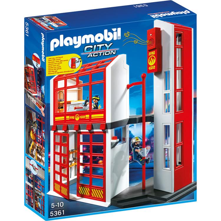 Playmobil City Action Brandweerkazerne met Sirene 5361