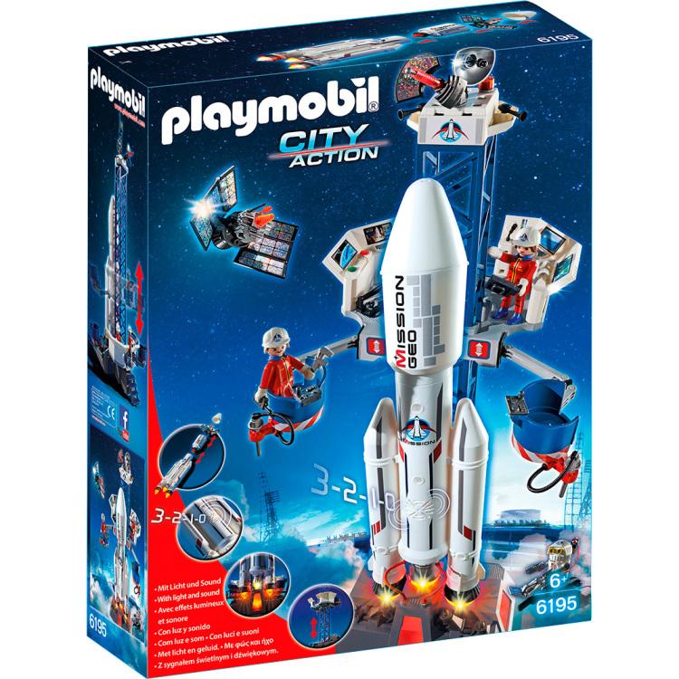 6195 Playmobil lanceerbasis met raket