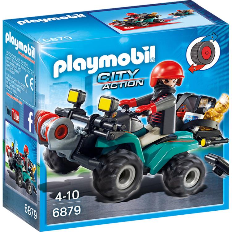 PLAYMOBIL City Action - Bandiet en quad met lier 6879