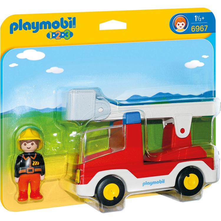 Alternate-PLAYMOBIL 1.2.3 - Brandweerwagen met ladder 6967-aanbieding