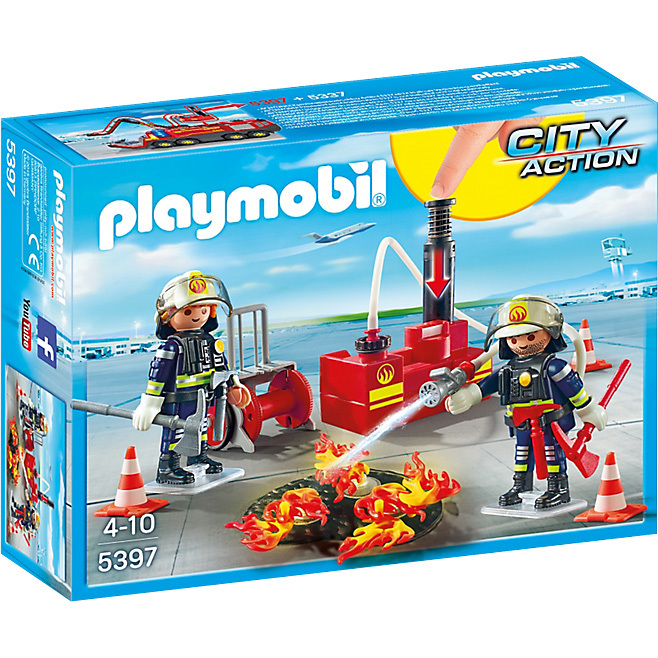 Playmobil City Action Brandweermannen met blusmateriaal