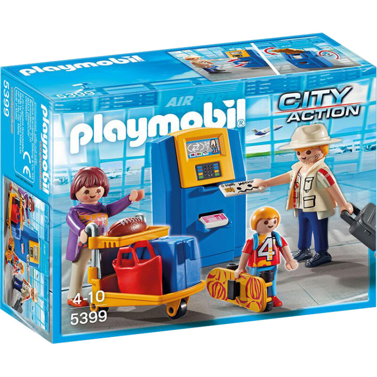 Playmobil City Action Vakantiegangers aan incheckbalie