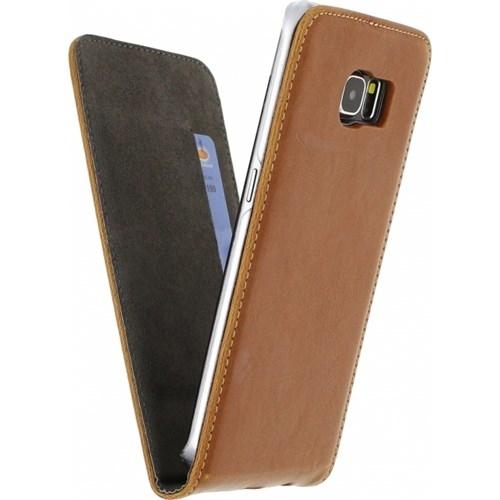 Mobilize Premium Magnet Flip Case Samsung Galaxy S6 Edge Brown