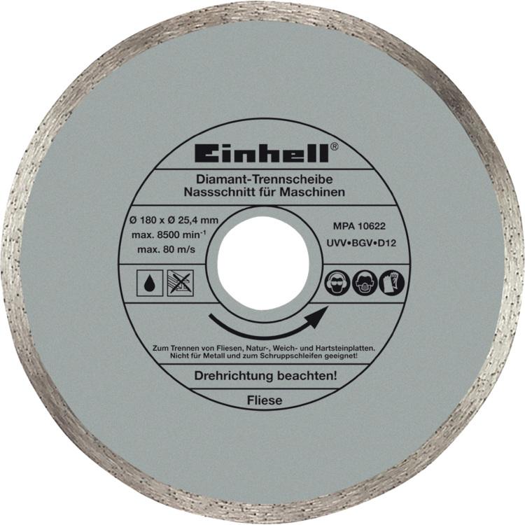 Einhell Diamantschijf 180x25,4 zaagblad 4301170