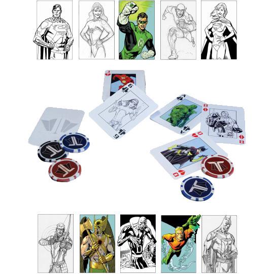 Foto van DC Comics: Justice League Starter Poker Set